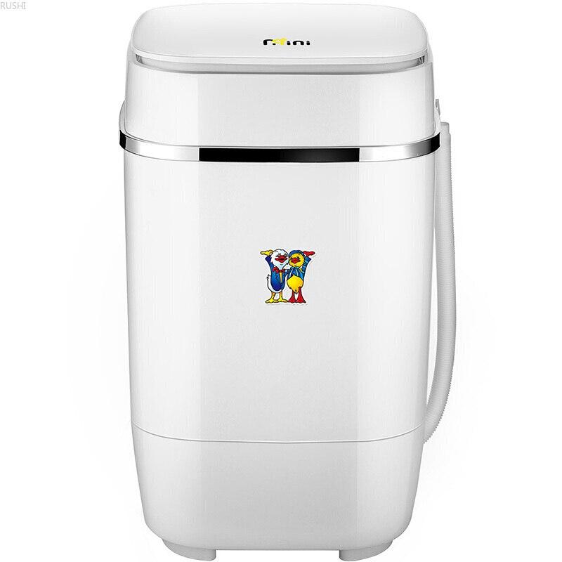 3.2kg Mini Washing Machine Semi-automatic Single Barrel Baby Washing Machine Blue Light Portable Washing Machine