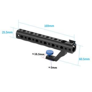 """Image 5 - Cámara DSLR mango superior de liberación rápida 28mm con zapata caliente 1/4 """"3/8"""" para DSLR Cage Rig tiro de ángulo bajo para Sony A6500 GH5 G85 A7RIII"""