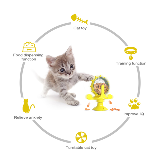 Treat Wheel For Cats & Dogs Pet Feeder 2