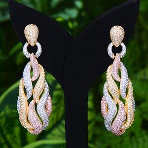 Image 1 - GODKI słynny Micky Candy Charms Trendy kobiety kolczyki Cubic cyrkon spadek kolczyki dla kobiet akcesoria imprezowe ślubne