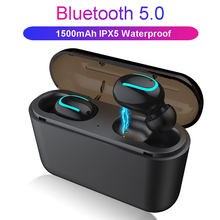 TWS Q32 Bluetooth 5.0 Earphones Wireless Headphones Sport Handsfree Running Headsets Sport Earbuds With Mic 1500mAh Charger Case(China)