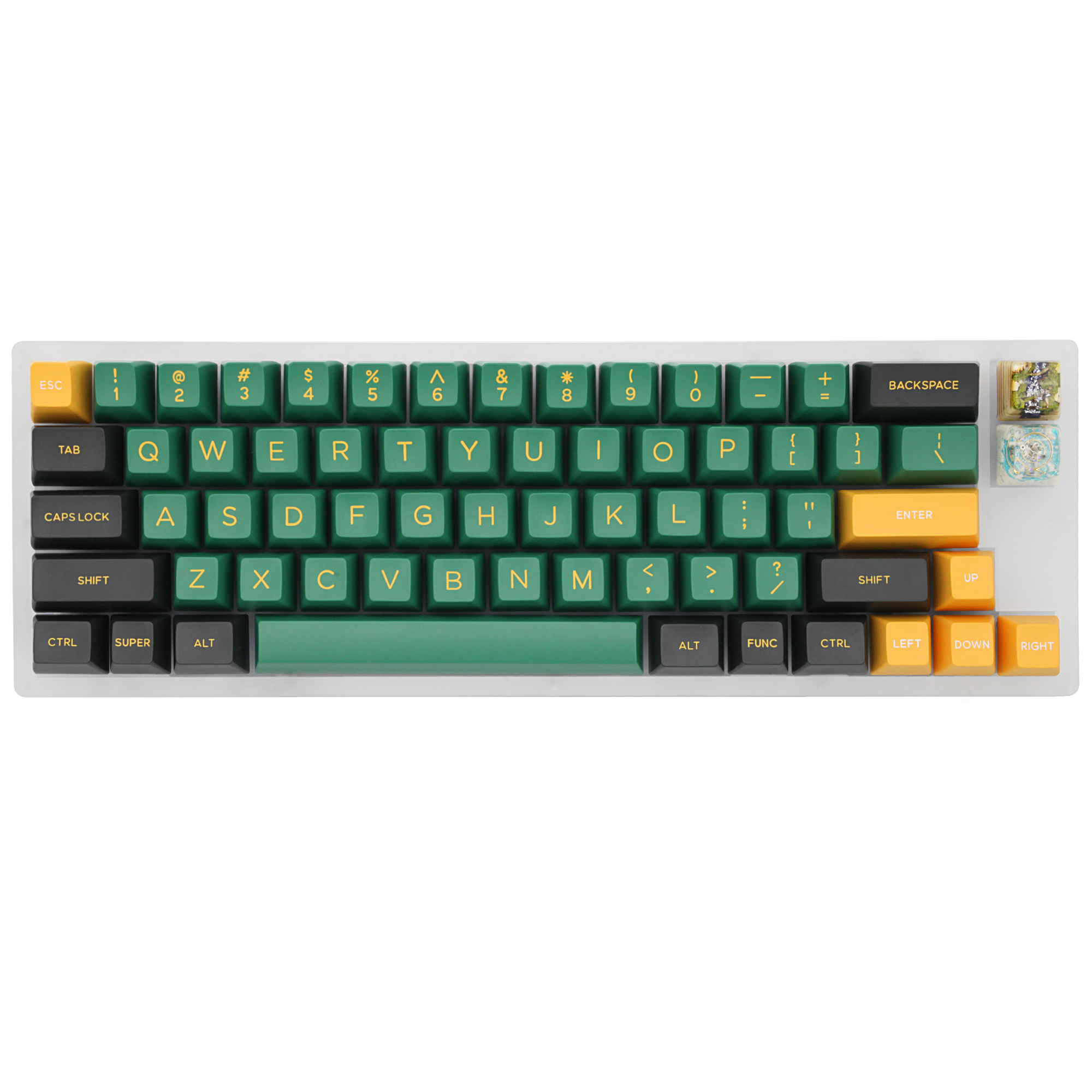Hot Swappable YC66 Pcb Custom Mechanical Keyboard Rgb Smd Switch Leds Type C Usb Port  With Acrylic Case Rgb Side Light
