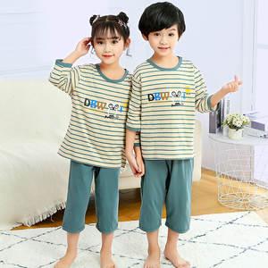Pajamas Kids Nightwear Cotton-Sets Boys Sleepwear Toddler Winter Children Baby-Girl