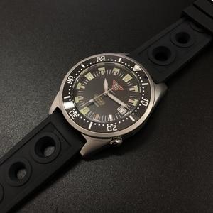 Image 4 - STEELDIVE 1979T Automatische Mechanische Uhr NH35 Sapphire Kristall Spezielle Shark 200m Taucher Uhr Männer C3 Leucht Dive Uhren männer