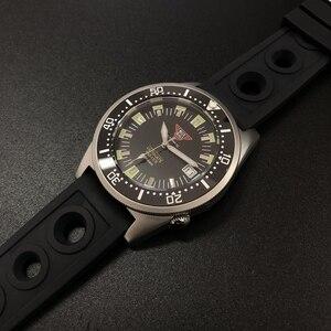 Image 4 - STEELDIVE 1979T אוטומטי מכאני שעון NH35 ספיר קריסטל מיוחד כריש 200m Diver שעון גברים C3 זוהר צלילה שעונים גברים