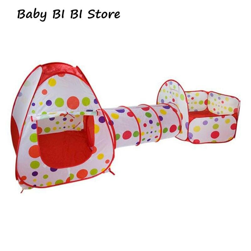 3 pièces/ensemble jouer tente bébé jouets piscine à balles pour enfants piscine fosse enfants pliant ramper Tunnel océan Playhouse