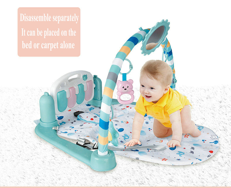H880820a2c8d747289ecb82139c67e957A Baby Rocking Chair Newborn Electric Toy Fitness Frame Children Music Folding Swing Multifunction Comfortable Recliner Rattle