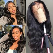 Sterly бразильский Синтетические волосы на кружеве человеческих волос парики 13x4 объемная волна Синтетические волосы на кружеве парик человеч...