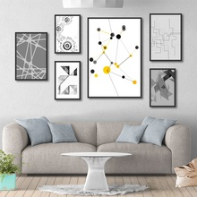 Abstract Line Art Poster Print Future Mechanical Canvas Painting Picture Home Wall Bedroom Modern Decoration Custom