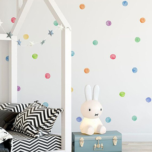 Image 2 - 29 Pcs/Set PVC Baby Wall Decals Colored Dots Creative Stickers for Children Vinyl Nursery Room Decoration