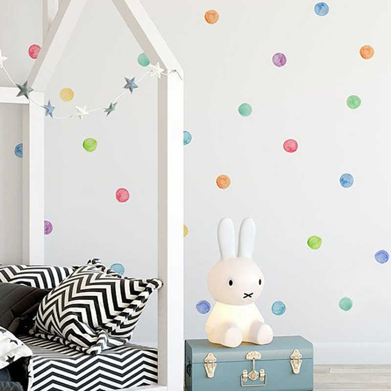 29 шт./компл. ПВХ детские настенные наклейки цветные точки креативные наклейки для детей виниловые украшения детской комнаты