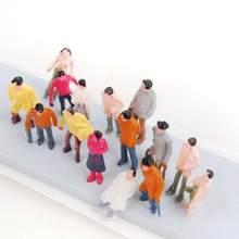 100 sztuk malowany Model pociągu ludzie figurki układ Diorama 1/150 N skala