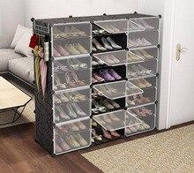 Shoe Box органайзер Sneakers Boots Storage Organizer Shelf Convertible Space Size Steel Frame Plastic Cabinet
