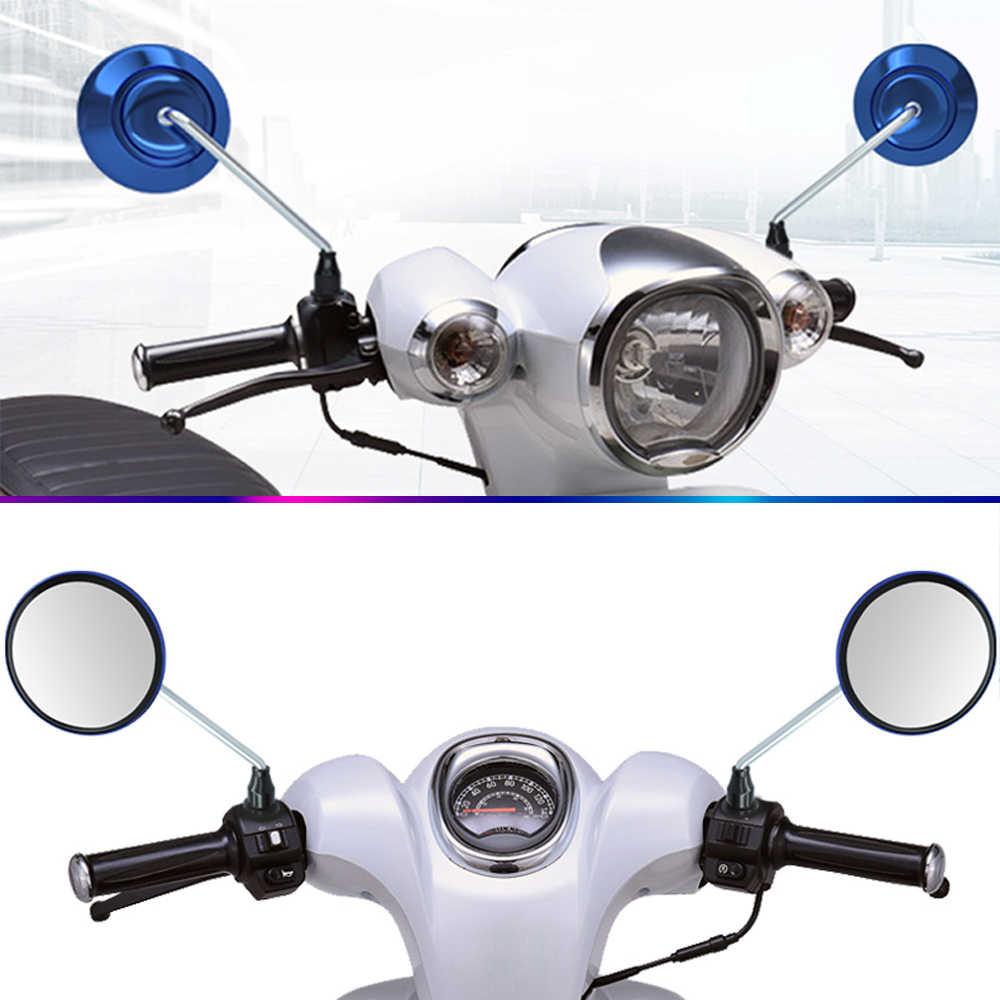 Moto รีไซเคิล Handle Bar End Round ด้านหลังดูกระจก retroviseur Moto สำหรับ HONDA CBR 1100xx 1100 XX VTX1300 vtx 1300 VF750