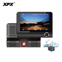 Buy XPX P9 Car dvr Dash cam Rear view camera Full HD 4 inch OLED Three camera G-sensor Salon camera Night record Car camera Dashcam directly from merchant!