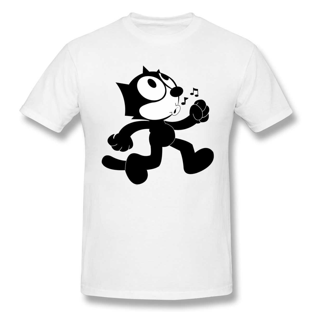 Felix The Cat T Shirt Popular Men's Short Sleeve Men White Printed Tshirt Summer Large TShirts Cotton Tops