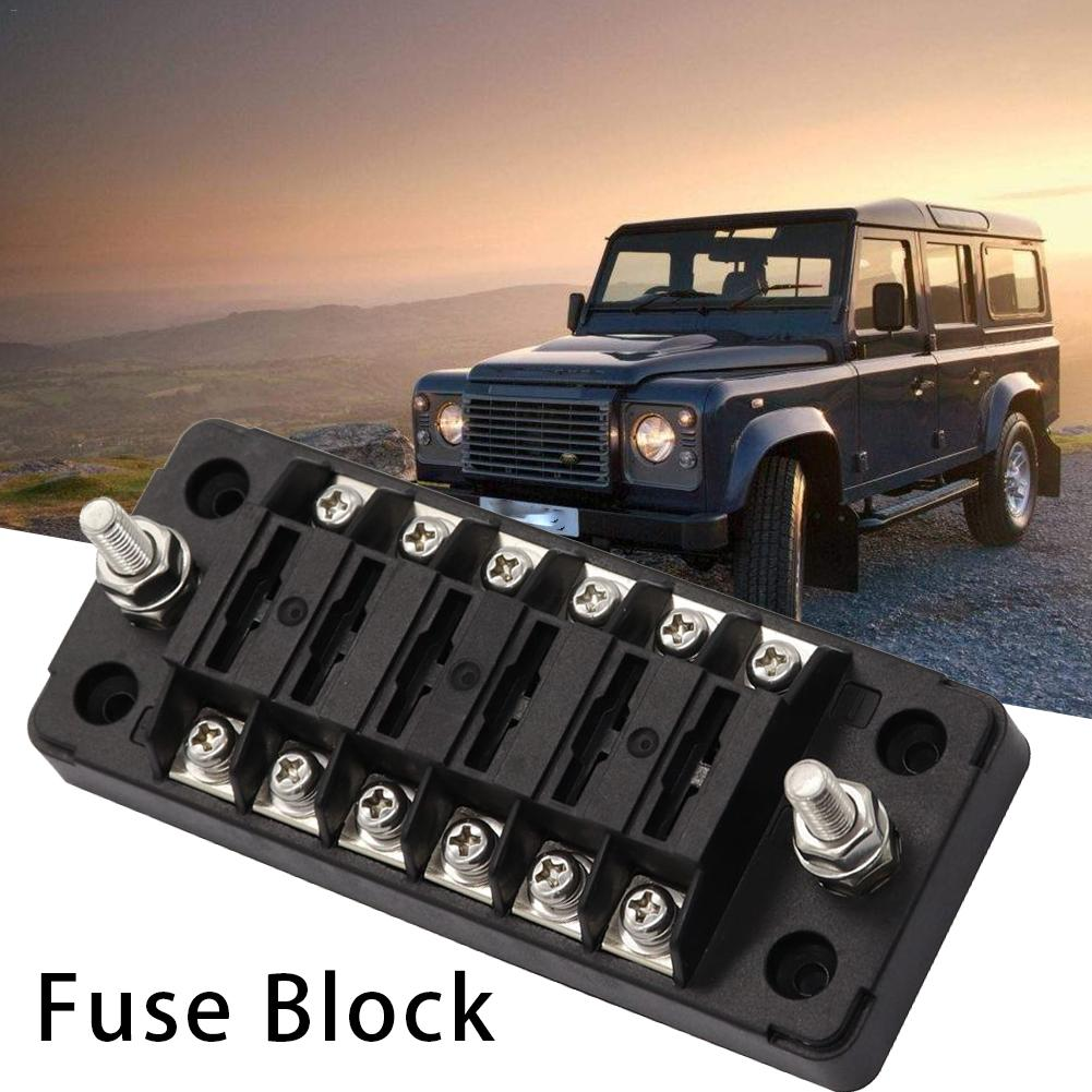 New Car Fuse Block 6 Way Fuse Box With Ground With Negative Bus Protection  Cove For Vehicle Car Boat Marine Fuses  - AliExpress