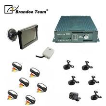 شحن مجاني لتحديد المواقع 8CH 1080P موبايل مركبة جهاز تسجيل فيديو رقمي للسيارات دعم 2 قطعة 128GB بطاقة SD ، SD DVR لاستخدام حافلة شاحنة مركبة