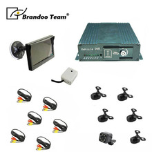 8CH GPS SD Card DVR wtih 6pcs Car camera,5.0inch Monitor for car truck bus,Max support 2pcs 128GB SD card