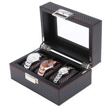 Деревянная коробка для часов Подарочная коробка для хранения с ключом открытое окно коробка для хранения часов краска спрей краска W03-T профессиональная Мода
