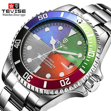 Classic Multicolor Dial Top Brand Men Watch Quartz Fashion Luxury Stainless Steel Male Calendar Clock Can rotate the bezel dalishi top brand men business dress watch male casual quartz wristwatch digital dial men clock 30m swimming the calendar watch