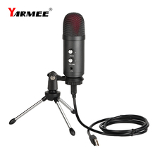 Usb Computer Microfoon Professionnel Microfono Pc Voor Pc Zingen Vergadering Studio Opname Live Streaming Yarmee YR06