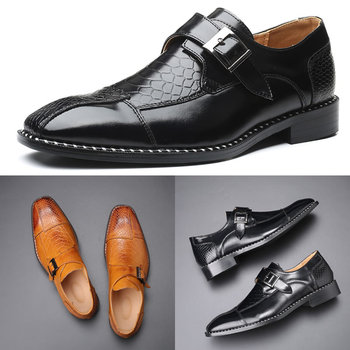 Men's Dress Shoes Buckle Skyle Oxfords Formal Leather Shoes Wedding Loafers Men's shoes image