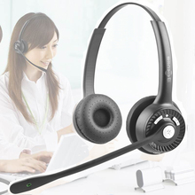 BT102 Bluetooth Headset Call Center Büro Binaural Stereo Headset Mit Mic Telefon Noise Reduktion Kunden Service Kopfhörer