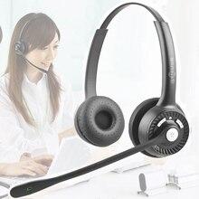 BT102 casque Bluetooth Center dappel bureau Binaural casque stéréo avec micro téléphone réduction du bruit Service client écouteurs