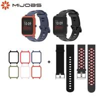 Amazfit bip s pulseira de 20mm, pulseira de relógio para xiaomi huami amazfit gts, capa de proteção para amazfit bip 1s