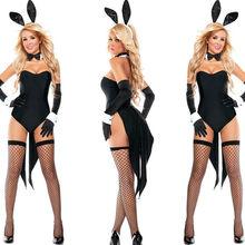 Conjunto de mujer con Orejas de conejo y Chica conejito, ropa Sexy, de buena calidad, para fiesta de cómic, Cosplay Kawaii, disfraz de conejo, lingere de talla grande