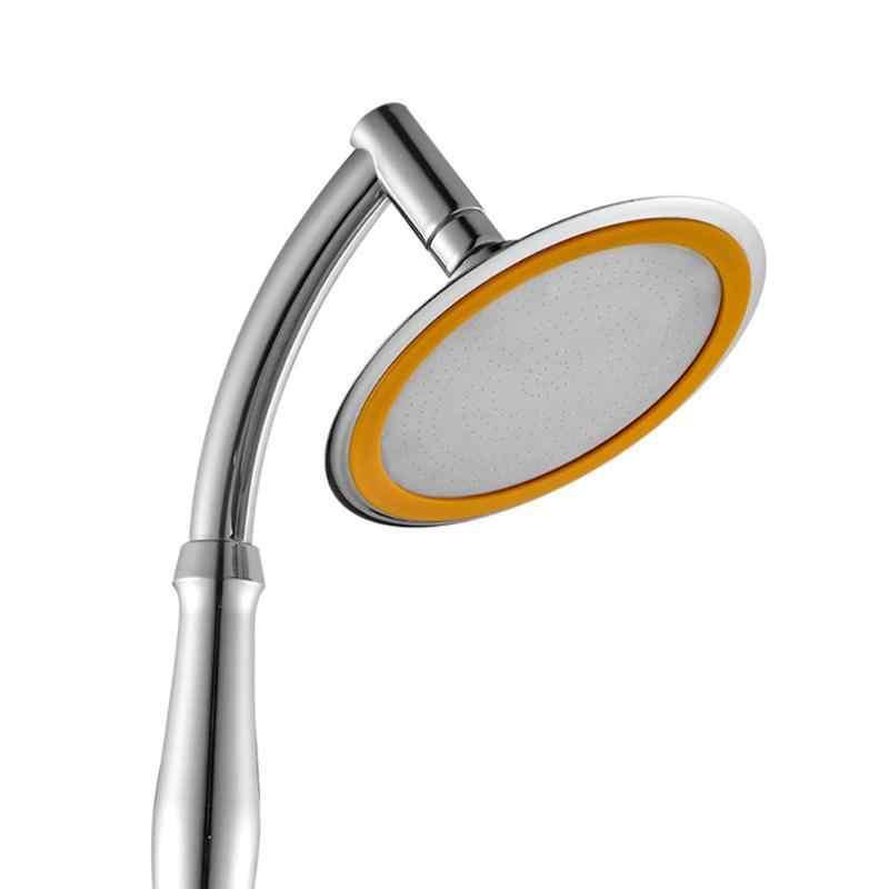 4/6in Handheld Shower Head High Pressure ABS Hand Held 360 Degrees Showerhead Adjustable 2 Mode Bathroom Water Saving Jetting
