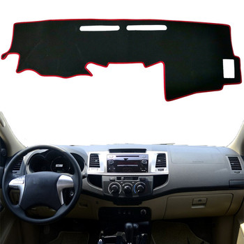 For Toyota Hilux SW4 Fortuner 2005 2006 2007 2008-2014 2015 Dashboard Cover Mat Pad Dash Sunshade Protect Carpet Car Accessories image