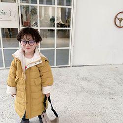2019 Детская одежда Новинка зимы Корейская версия детские штаны, брюки для девочек Теплые ветрозащищающий пуховик пальто