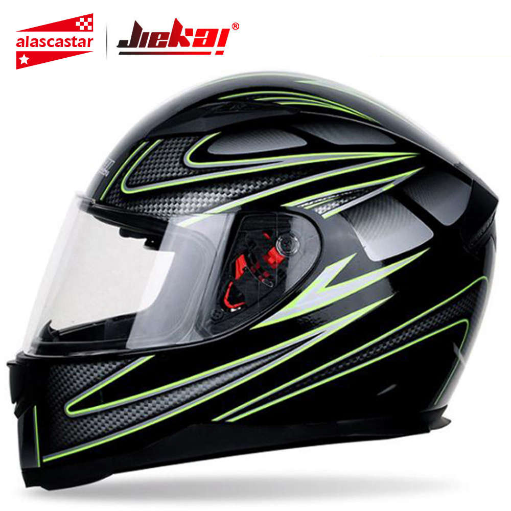 JIEKAI Motorcycle Helmet Motorbike Motocross Moto Helmet Crash Helmet Scooter Riding Full Face Helmets Casco Motocross Capacete