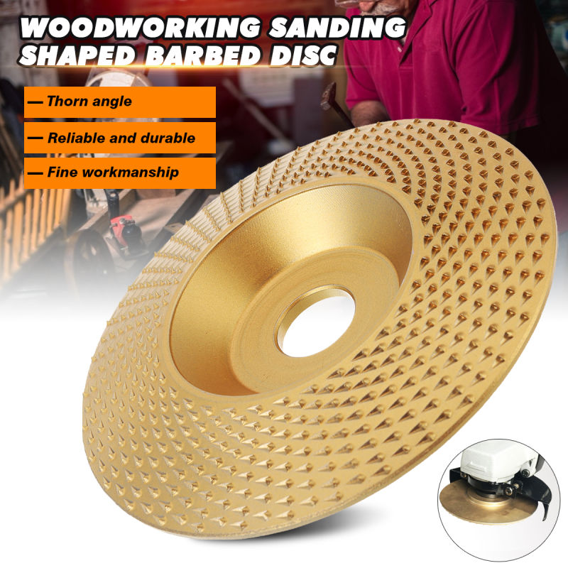 Professional 16mm Bore Extreme Shaping Disc Tungsten Carbide Wood Sanding Carving Tool Abrasive Disc Tools For Angle Grinder