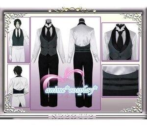 Image 2 - Disfraz de Anime Black Butler 2 Kuroshitsuji Sebastian Michaelis, uniforme Unisex