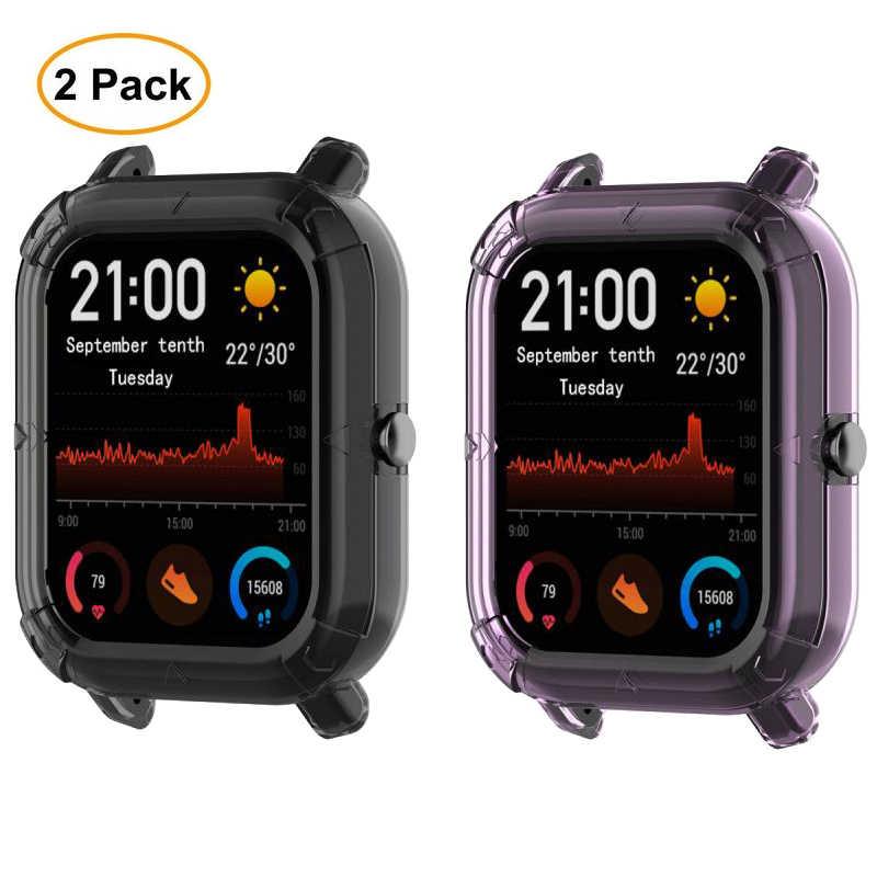 2 قطعة/الحزمة اكسسوارات ساعة ل Amazfit GTS حافظة غطاء ساعة ذكية إطار من البولي يوريثان واقي مصد السيارة ل Amazfit GTS واقية