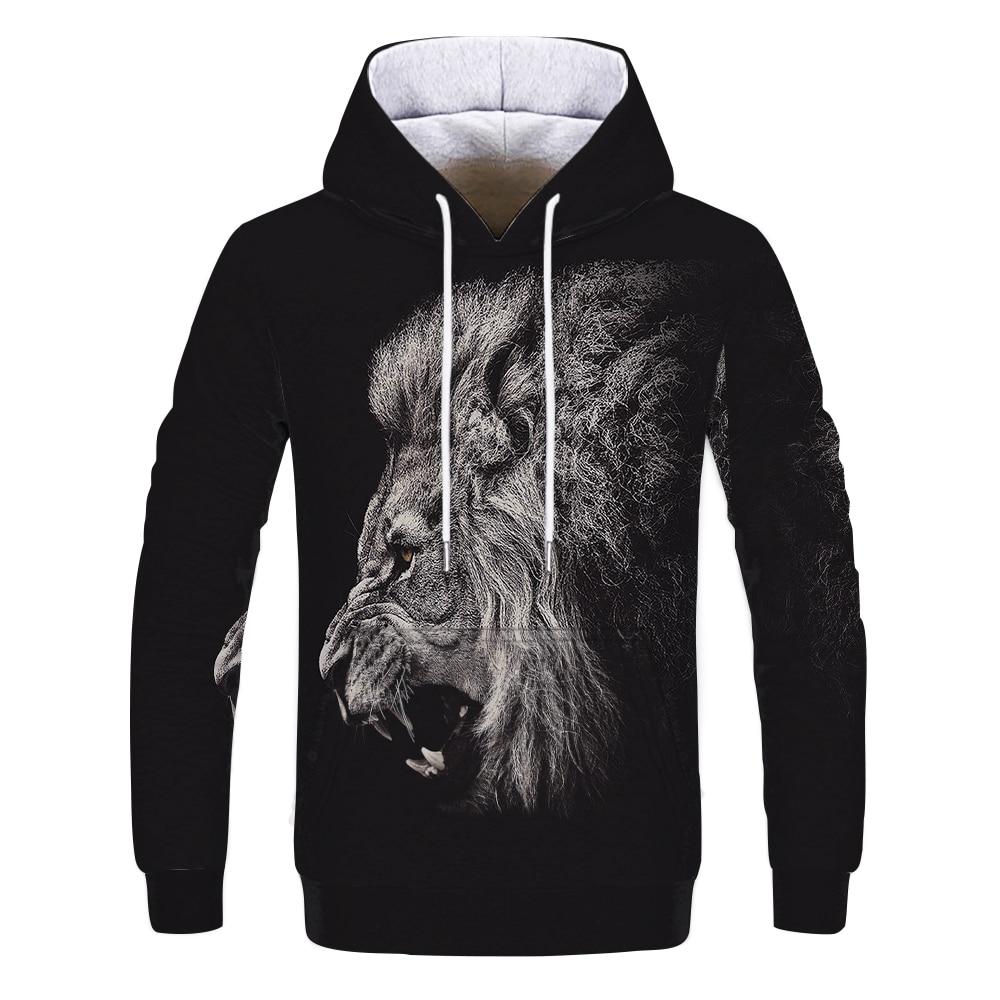 2019 Hot Sale Fashion Hoodies Animals Dots Lion 3D Printed Men/Women Hoodie Men Sweatshirt Men Streetwear Male Hooded Top Mantle