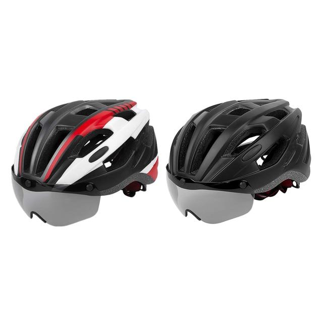 Шлем для езды на велосипеде со съемным козырьком очки взрослых