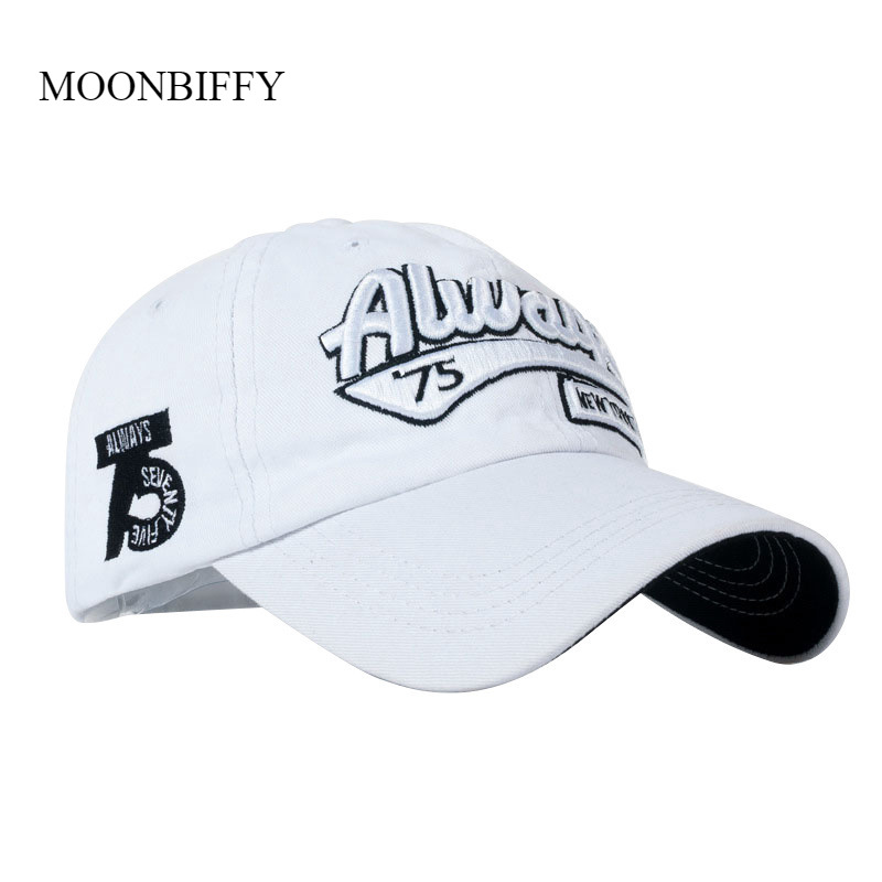 Baseball-Hat Embroidery Letter Dad-Cap Cotton Ladies Casual Always75 Wild-Skully 3D Three-Dimensional