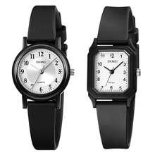SKMEI – montre-bracelet en PU pour femmes, Simple, étanche 50M, petit cadran, résistant aux chocs, marque de luxe, horloges pour dames