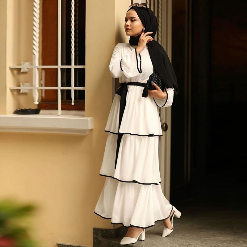 Abaya Turkey Islamic Hijab Muslim Dress Caftan Kaftan Morocco Tesettur Elbise Robe Musulmane Longue Vestidos Arab Female Dress