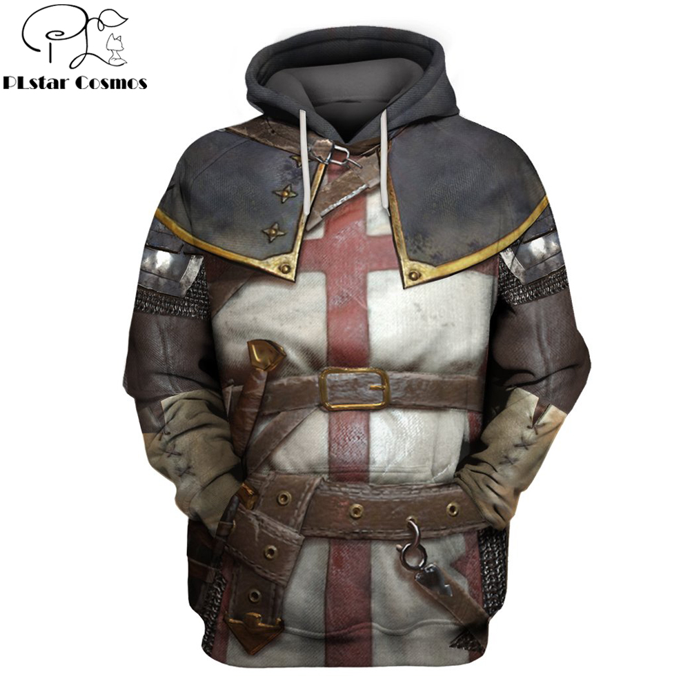 2019 New Fashion hoodies Knights Templar 3D Printed Hoodie Sweatshirt Men/Women Casual Streetwear sudadera hombre Drop shipping
