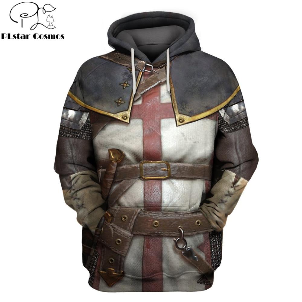 2019 New Fashion Hoodies Knights Templar 3D Printed Hoodie Sweatshirt Men/Women Casual Streetwear Sudadera Hombre Drop Shipping