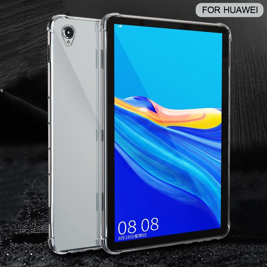 Силиконовый чехол для Huawei MediaPad T5 10 M3 M5 Lite 10,1 T3 10 9,6 прозрачный чехол Мягкая задняя крышка из ТПУ чехол для планшета