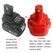 DVISI Batería de ion de litio de 18V para makita adaptador de herramienta de NI CD/cargador NI MH para herramienta eléctrica inalámbrica (batería no incluida), MT20MN