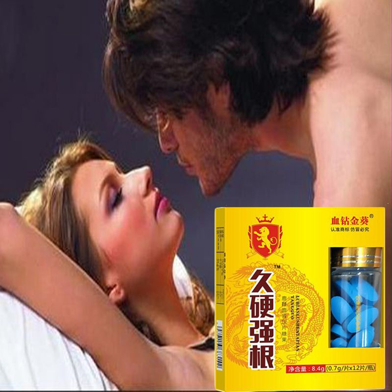 12Pcs/Set Natural Herbal Deer Whip Kidney Professional Male Tablets Slices Improve Strong Sexual Function Delay Time En