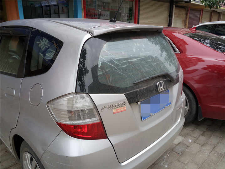 ホンダ · ジャズフィットスポイラー小さな abs 材料車のプライマー色リアホンダフィットスポイラー wx 2008-2013