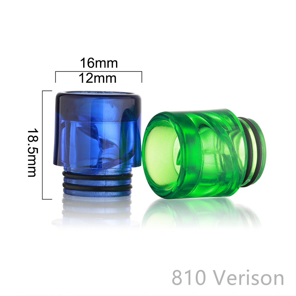 Spiral MTL 510 810 Drip Tip Wide Bore MouthPiece Anti Spit-Back DripTip 810 For Atomizer RTA RBA